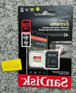 SanDisk 128GB Extreme microSD UHS-I Card with Adapter - U3 A