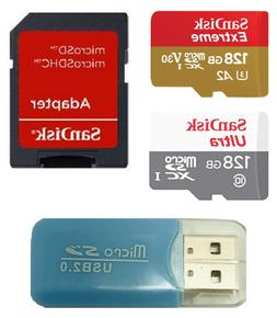 SanDisk 128GB Ultra & 128GB Extreme microSD Memory Card for