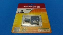 Transcend 2GB microSD Card with SD Adapter - TS2GUSDC - New