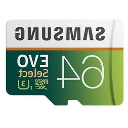 64GB 100MB/s  MicroSD EVO Select Memory Card with Adapter
