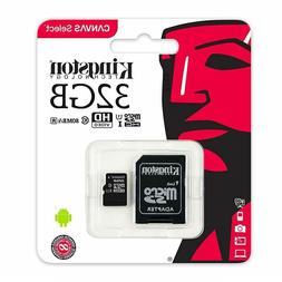 80MB/s Kingston Canvas Select 32GB microSDHC Class 10 microS