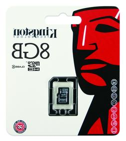 Kingston 8GB Micro Secure Digital High Capacity  Micro SD Ca