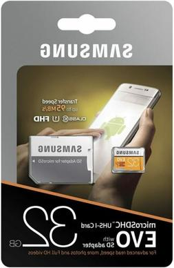 Samsung - 95MB/s MicroSD EVO Memory Card with Adapter - 32 G