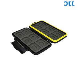 JJC Anti-Shock Water-Resistant Memory Card Case for 12 x SD