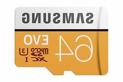 Samsung EVO 64GB microSDXC UHS-1 Card w/ Adapter