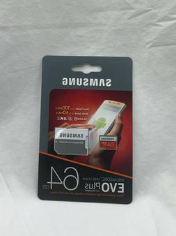 SAMSUNG EVO Plus 64GB Micro SD Card SDXC Class 10 Flash Memo