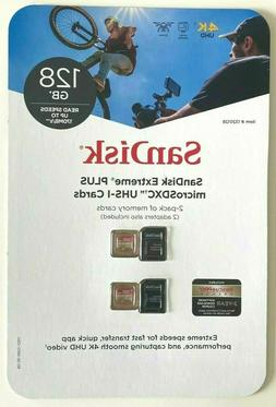 SanDisk Extreme Plus 128GB MicroSD Card with Adapter, Up to