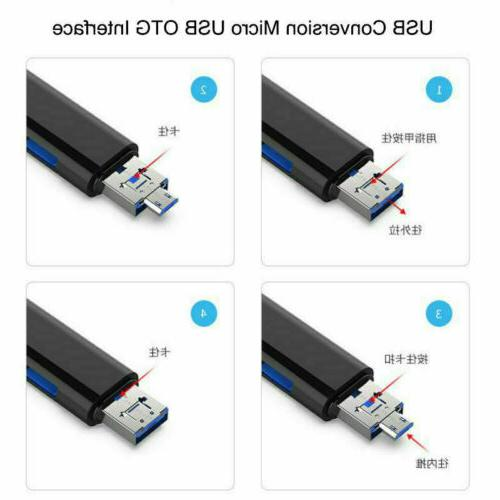 3in1 USB C Type C OTG SD Card Reader Adapter