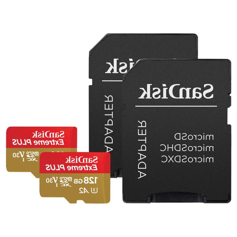 extreme plus 128gb microsd card with adapter