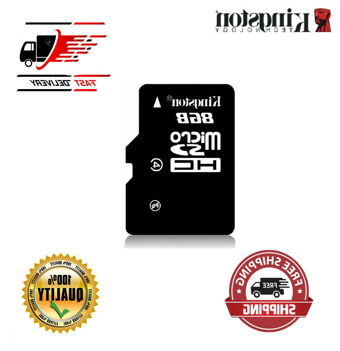 Kingston Micro Memory Card 8GB Micro SD Card U1 Flash TF Mic