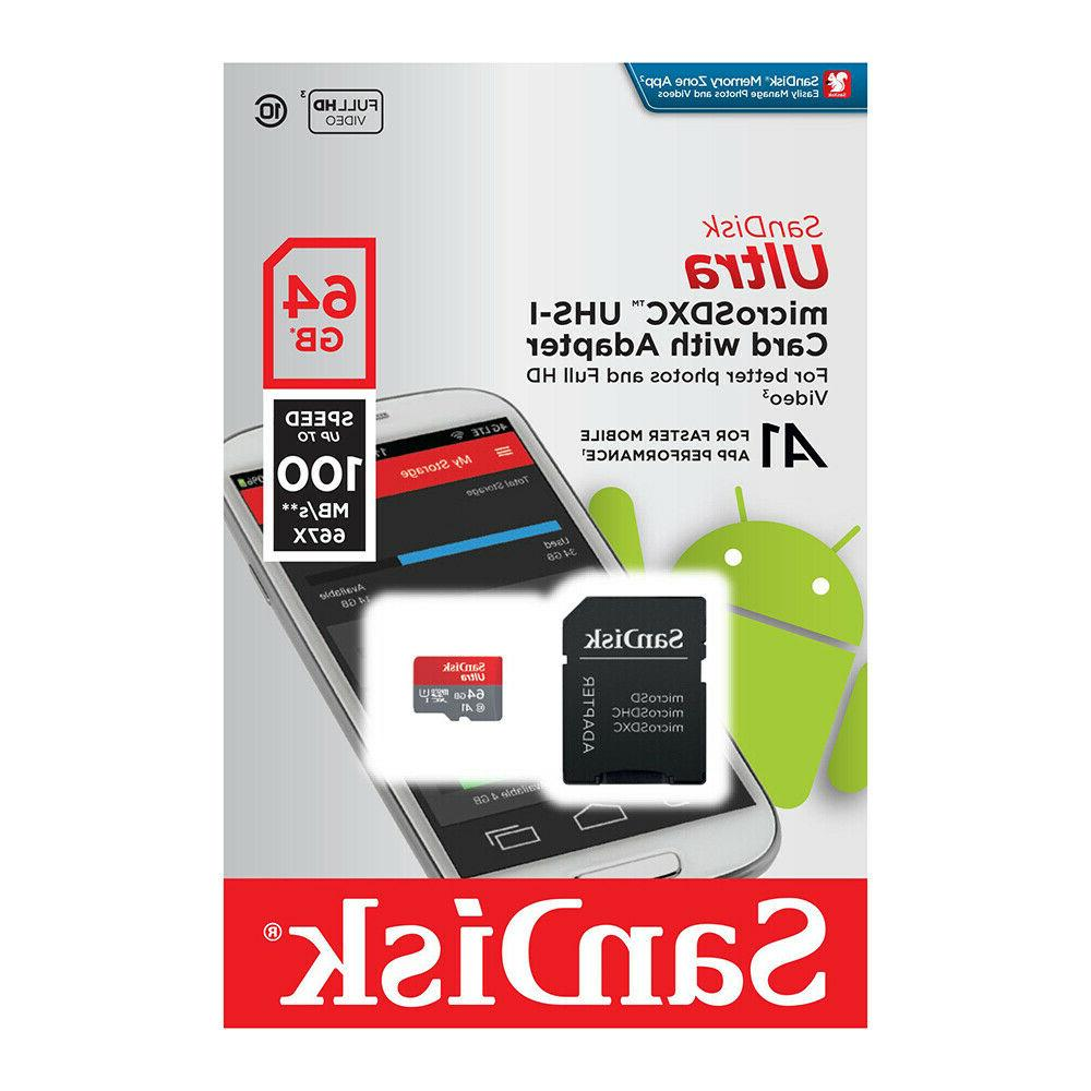 SanDisk Card 32GB 128GB Class 10 Android Samsung