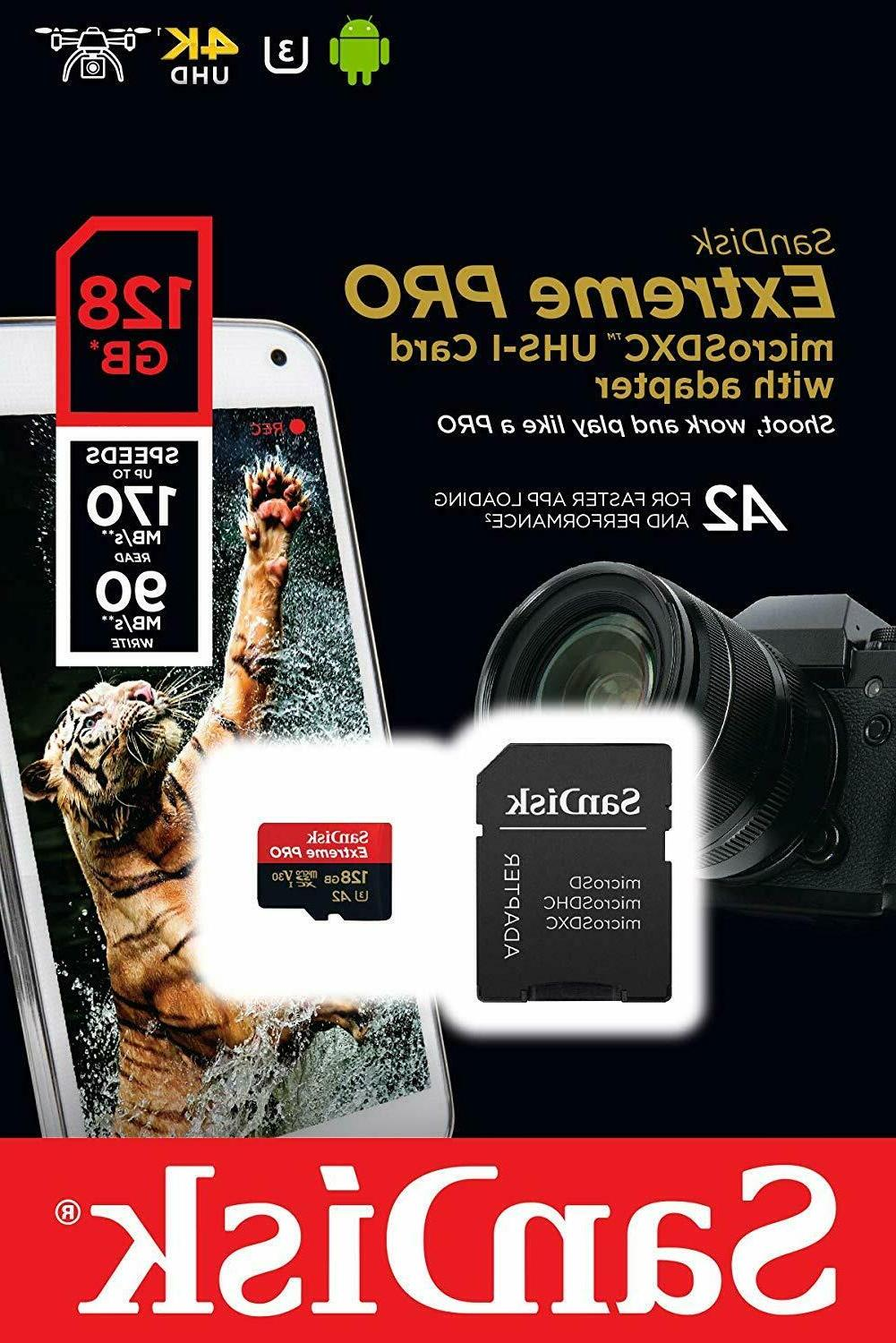 Sandisk Micro SD Card 64GB 256GB Extreme Cards