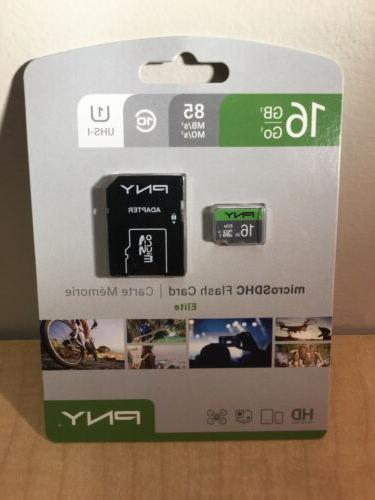 new 16gb micro sd card with adapter