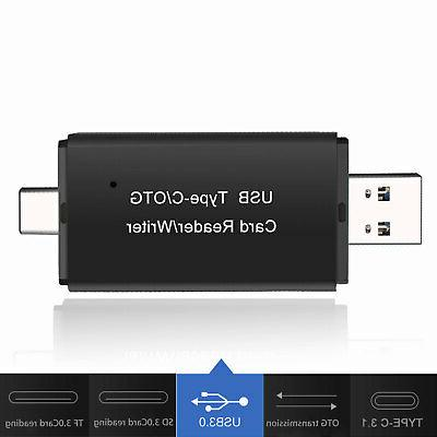Portable USB/TF/SD Memory Card Type OTG