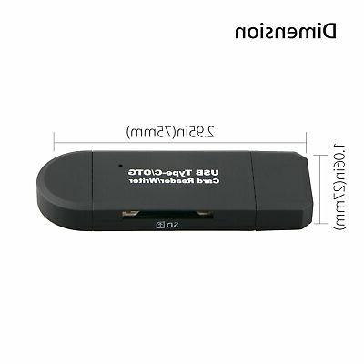 Portable USB/TF/SD Memory Card Reader Type C OTG