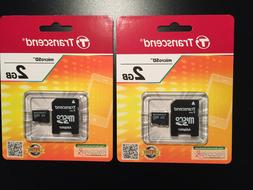 Transcend 2GB microSD Cards with SD Adapter - TS2GUSDC - Ne