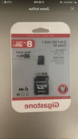 microsd card 2 in 1 kit 8gb