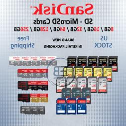 SD Card / MicroSD Sandisk 8/16/32/64/128 GB Memory Ultra Ext
