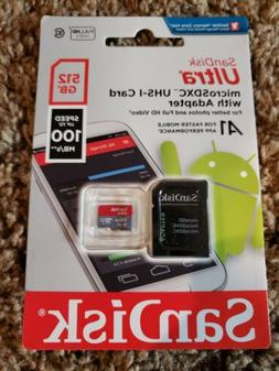 SanDisk Ultra 512 GB Micro SD XC UHS-I Card Class 10 A1 100M