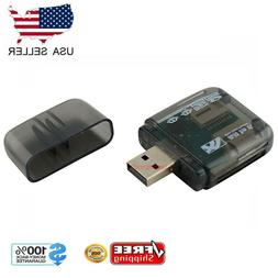 USB 2.0 Flash Memory Card Reader All-in-One SD/SDHC Micro-SD